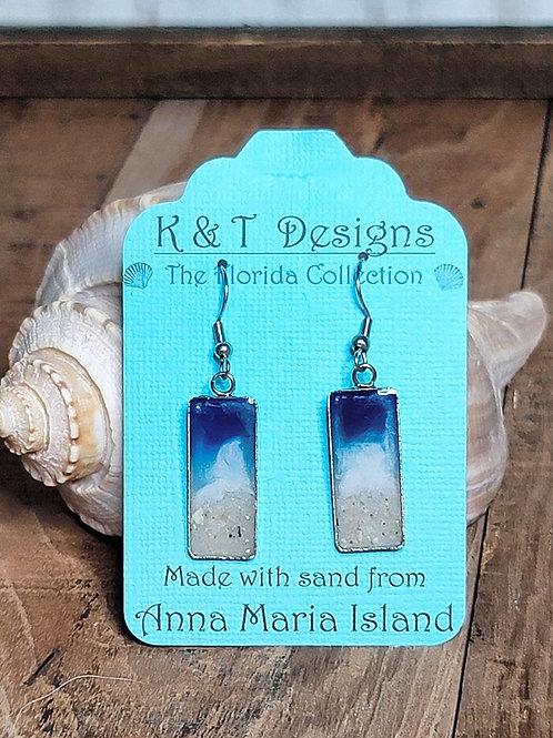 Anna Maria Beach Sand Shoreline Dangle Earrings