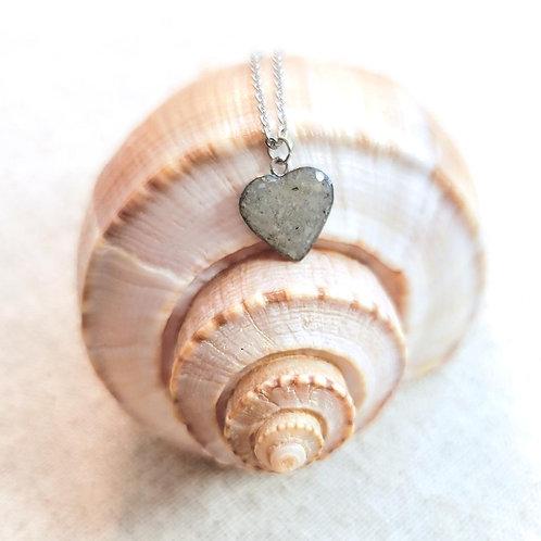 Madeira Beach Sand Heart Pendant Necklace