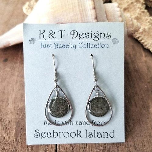 Seabrook Island Beach Sand Teardrop Earrings