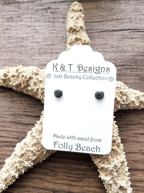 Folly Beach Sand Stud Earrings