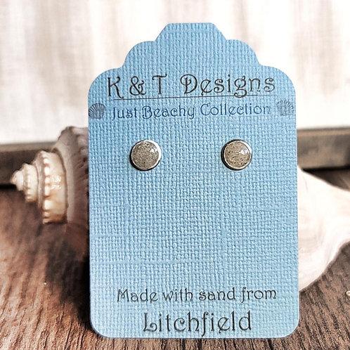Litchfield Beach Sand Stud Earrings