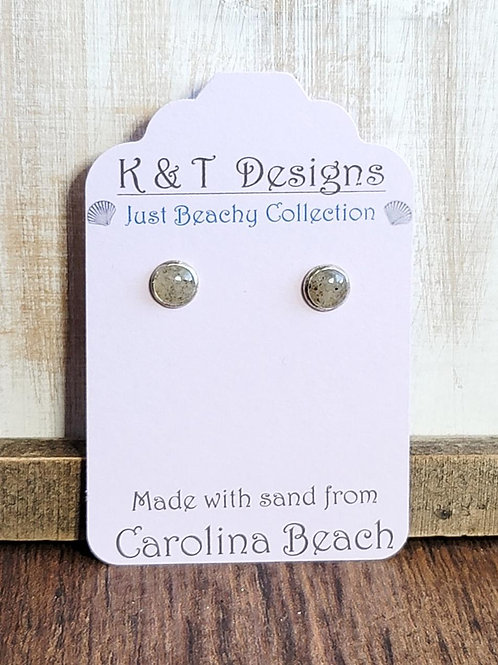 Carolina Beach Sand Stud Earrings