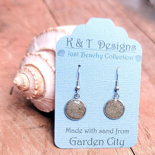 Garden City Beach Sand Dangle Earrings