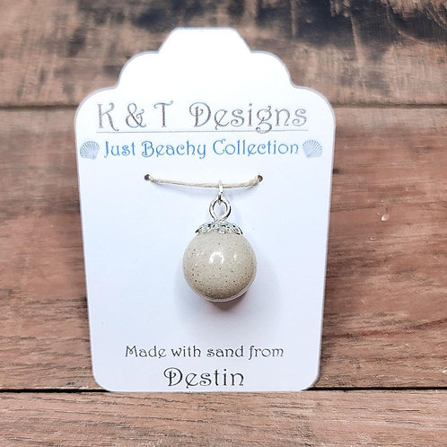 Destin Beach Sand Ball Pendant / Necklace
