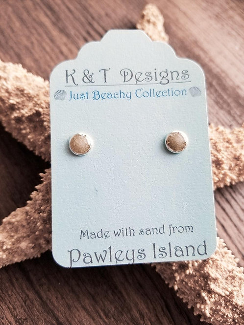 Pawleys Island Beach Sand Stud Earrings
