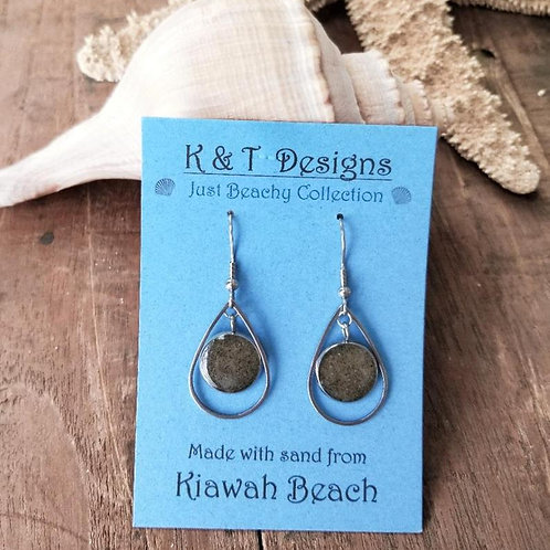 Kiawah Beach Sand Teardrop Earrings
