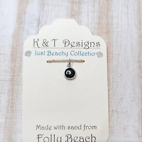 Folly Beach Sand Charm Pendant / Necklace