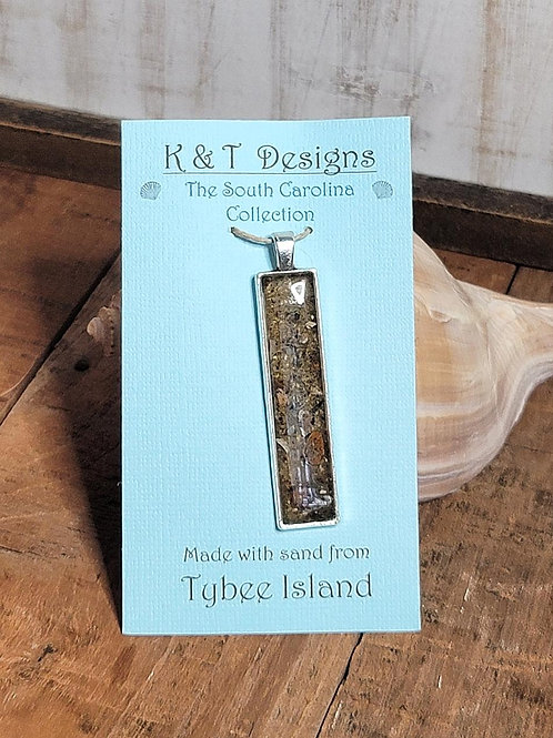 Tybee Island Beach Sand Bar Pendant / Necklace