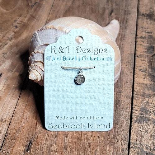 Seabrook Island Beach Sand Charm Pendant / Necklace