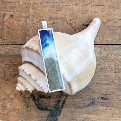 Isle of Palms Beach Sand Shoreline Bar Pendant / Necklace