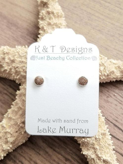 Lake Murray Beach Sand Stud Earrings
