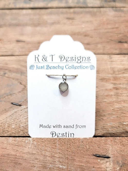 Destin Beach Sand Charm Pendant / Necklace