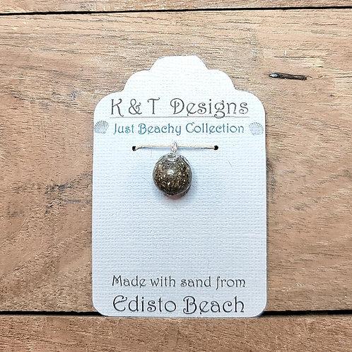 Edisto Beach Sand Small Ball Pendant / Necklace