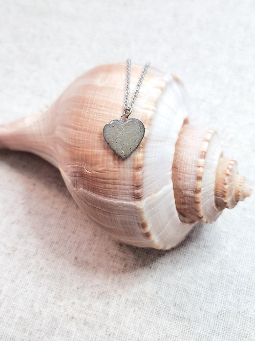Clearwater Beach Sand Heart Pendant Necklace