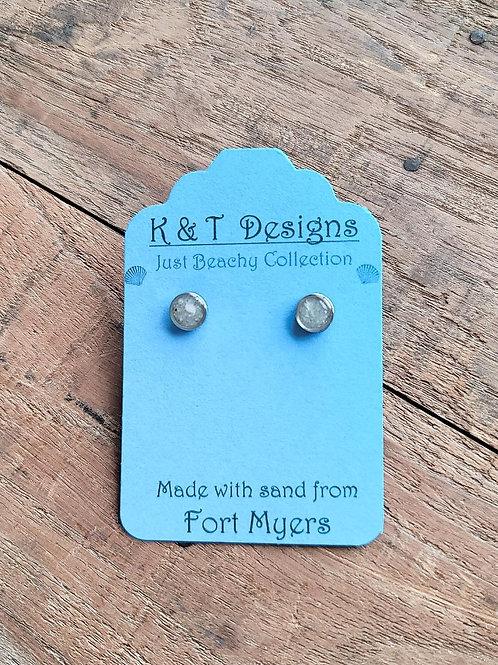 Fort Myers Beach Sand Stud Earrings