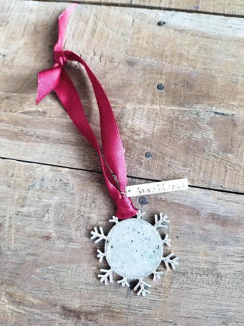 Anna Maria Island Christmas Holiday Snowflake Ornament