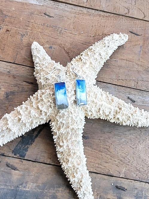 Isle of Palms Beach Sand Shoreline Dangle Earrings