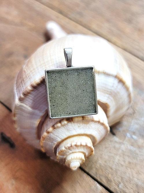 Fripp Island Beach Sand Square Pendant / Necklace