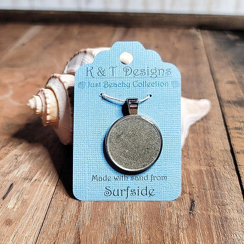 Surfside Large Circle Pendant / Necklace
