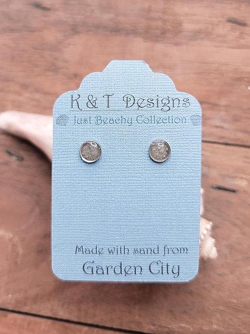 Garden City Beach Sand Stud Earrings