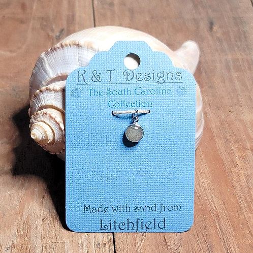 Litchfield Beach Sand Small Charm Pendant / Necklace