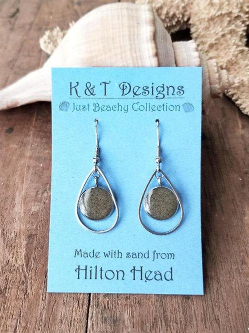 Hilton Head Beach Sand Teardrop Earrings