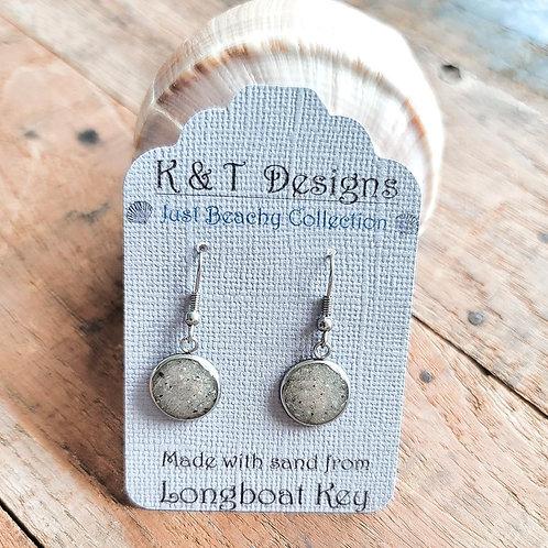 Longboat Key Beach Sand Dangle Earrings