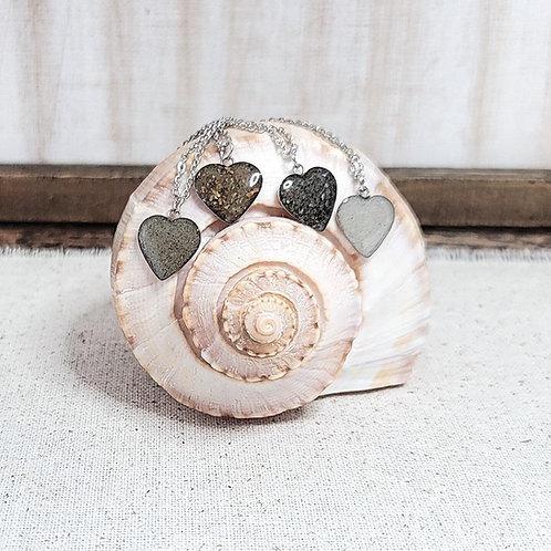 Custom Beach Sand Heart Pendant Necklace