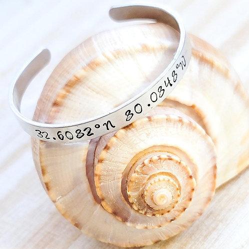 Kiawah Island Beach Coordinated Metal Stamped Bracelet