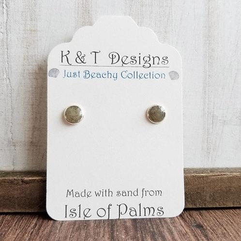 Isle of Palms Beach Sand Stud Earrings