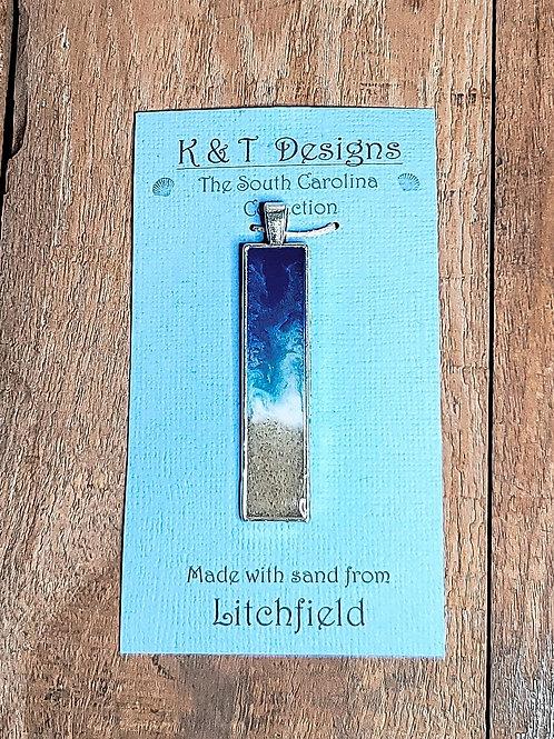 Litchfield Beach Sand Shoreline Bar Pendant / Necklace