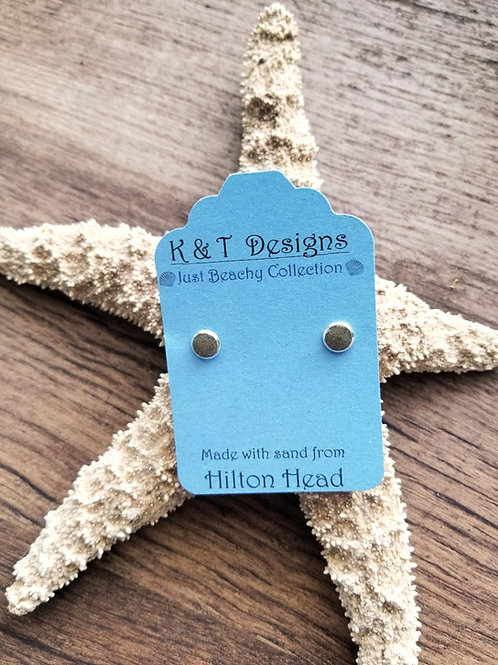 Hilton Head Beach Sand Stud Earrings
