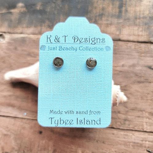 Tybee Island Beach Sand Stud Earrings