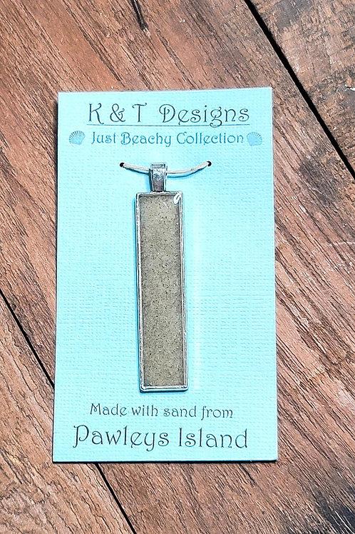 Pawleys Island Beach Sand Bar Pendant / Necklace