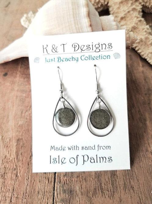 Isle of Palms Beach Sand Teardrop Earrings