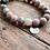 Thumbnail: Pawleys Island Beach Sand Diffuser Bracelet with Salmon Jasper Gemstone Beads