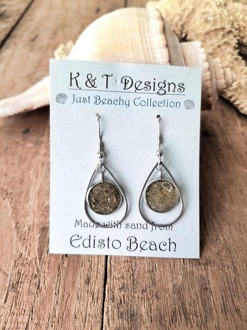 Edisto Beach Sand Teardrop Earrings
