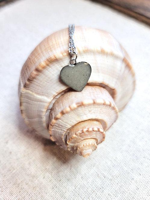 Destin Beach Sand Heart Pendant Necklace
