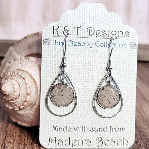 Madeira Beach Sand Teardrop Dangle Earrings