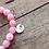 Thumbnail: Pawleys Island Beach Sand Diffuser Bracelet with Pink Jade Gemstone Beads