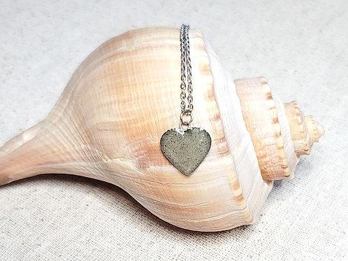 Pawleys Island Beach Sand Heart Pendant Necklace