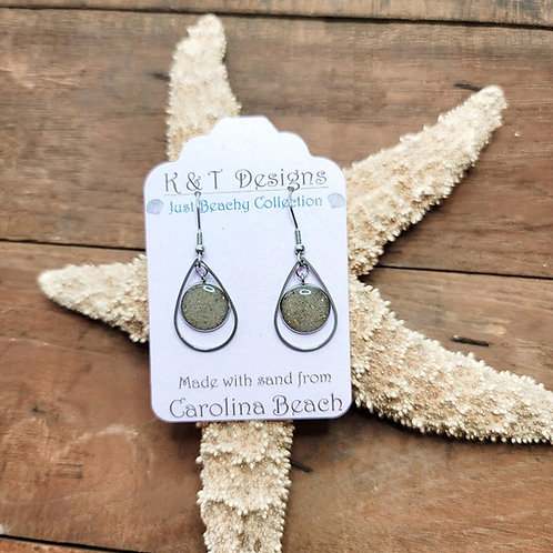 Carolina Beach Sand Teardrop Dangle Earrings