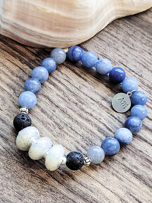 Anna Maria Beach Sand Bracelet with Gemstone Beads