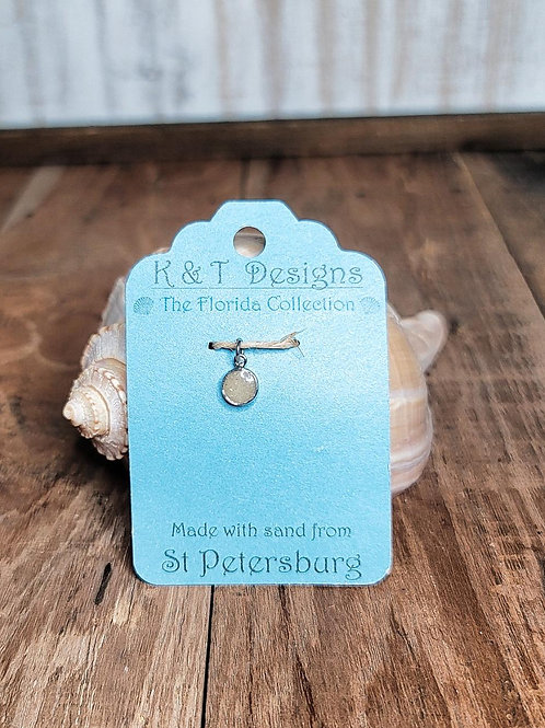 St Petersburg Beach Sand Small Charm Pendant / Necklace