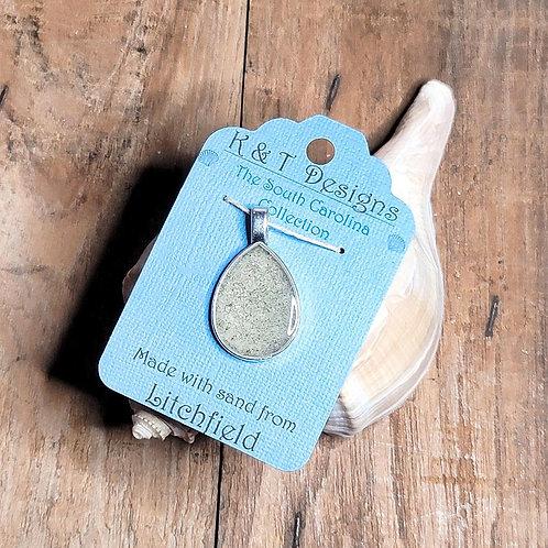 Litchfield Beach Sand Teardrop Pendant / Necklace