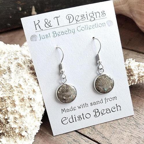 Edisto Beach Sand Dangle Earrings