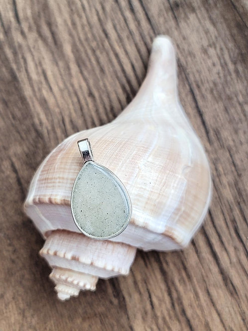 Destin Beach Sand Teardrop Pendant / Necklace