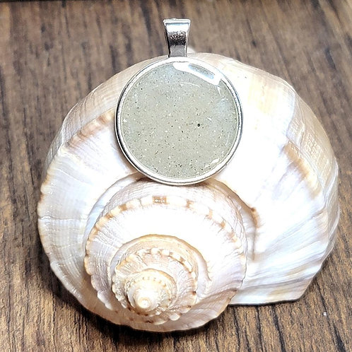 Clearwater Beach Sand Circle Pendant Necklace