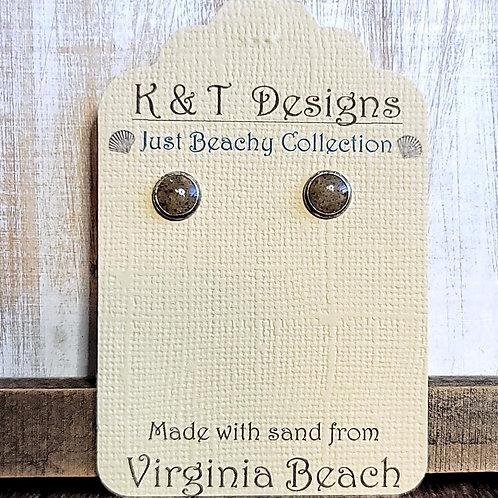Virginia Beach Sand Stud Earrings