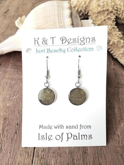 Isle of Palms Beach Sand Dangle Earrings